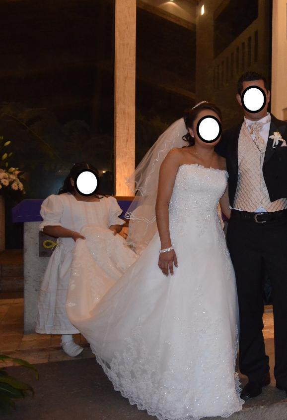 Vestido de novia solo puesto una vez